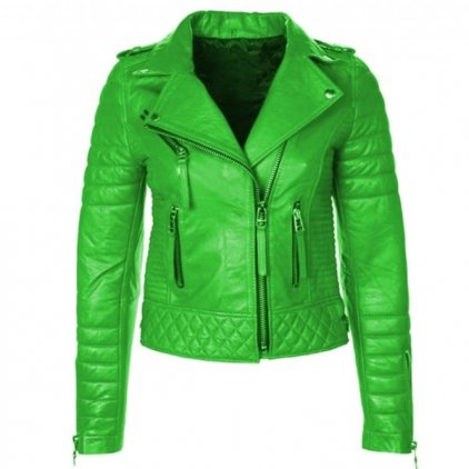 Women Leather Motorcycle Motorbike Jacket - Biker Style Jacket