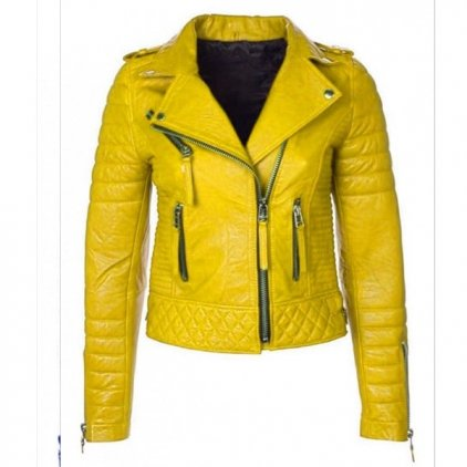 Women Leather Motorcycle Motorbike Jacket - Biker Style Jacket