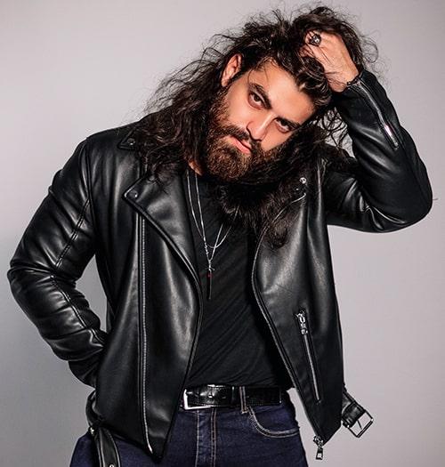 Classic leather jacket