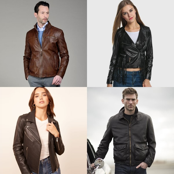 Get your choice of artwork, design or logo printed on your custom leather jacket