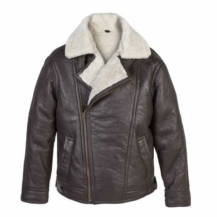 Men's Cream Sheepskin Leather Jacket