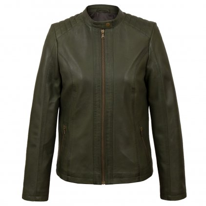Ladies Green leather jacket