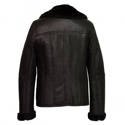 Women's Black Sheepskin Flying Jacket