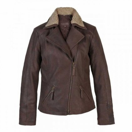 Women's Brown Leather Flying Jacket