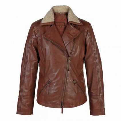 Women's Rust Leather Flying Jacket