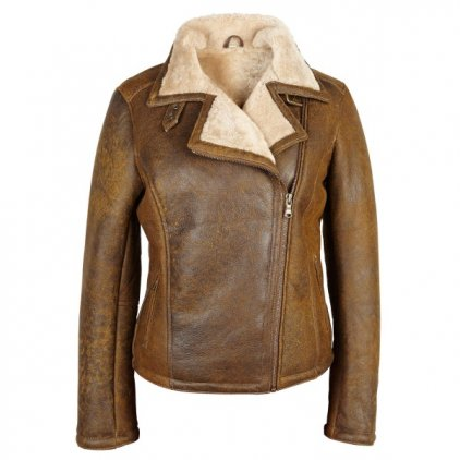 Women's Wild Tan Sheepskin Flying Jacket