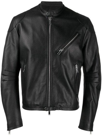 Tracker Black Bomber Leather Jacket
