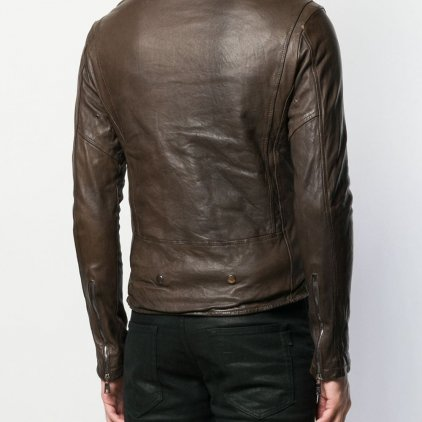 Brato Brown Bomber Leather Jacket