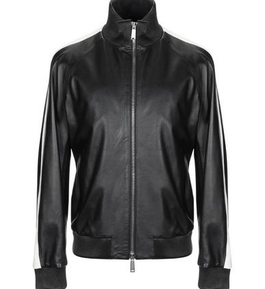 Classic Black Bomber Leather Jacket