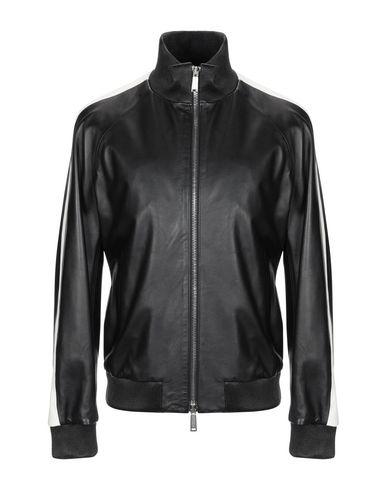 Classic Black Bomber Leather Jacket