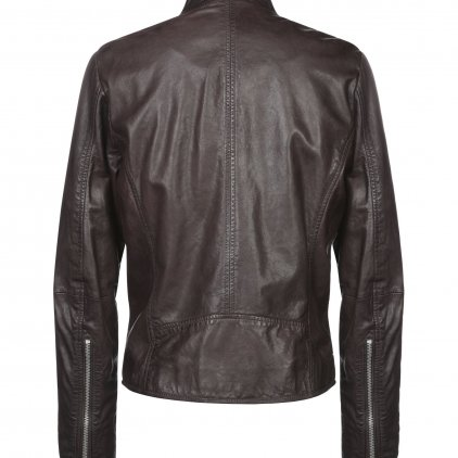 Elian Brown Bomber Leather Jacket