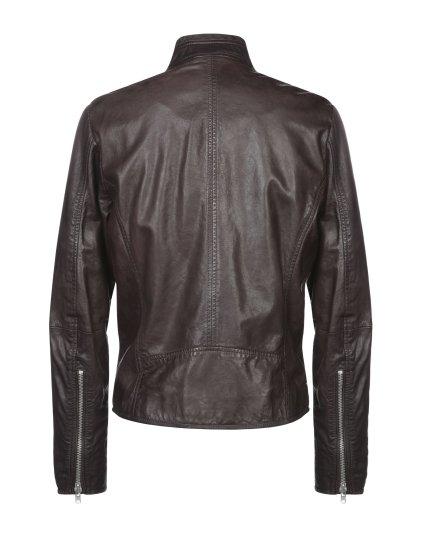 Elian Brown Bomber Leather Jacket