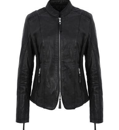 Emmy Women's Black Leather Biker Jacket