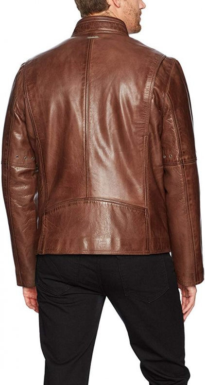 Marc Brown Bomber Leather Jacket