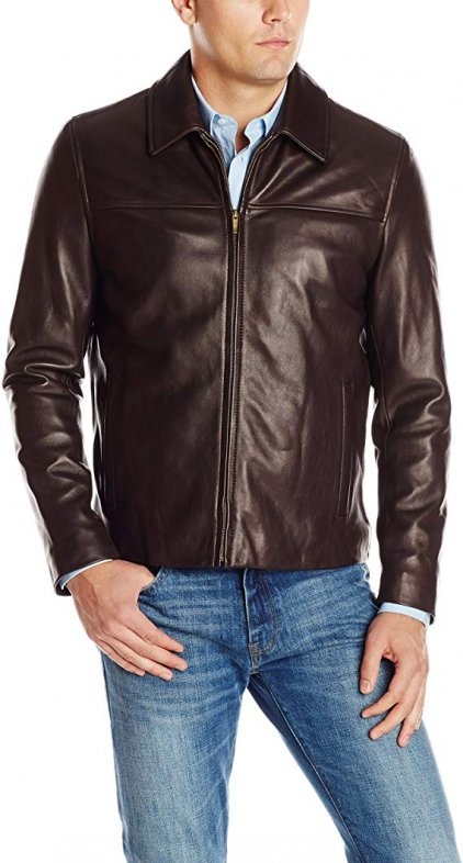 Cole Brown Bomber Leather Jacket