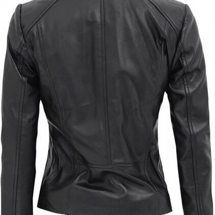 Arezoo Women's Black Leather Biker Jacket