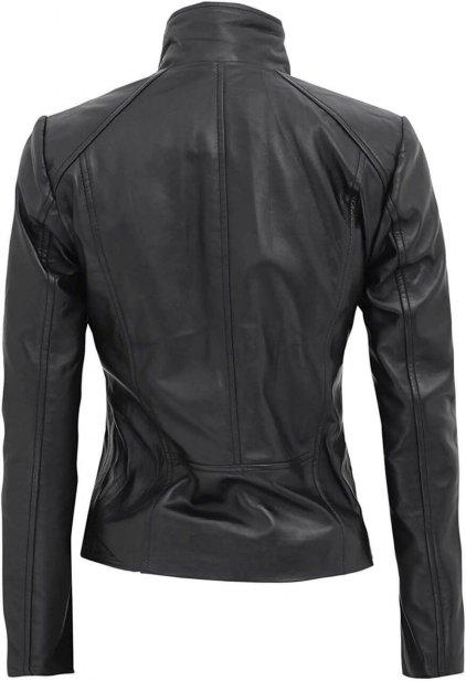 Arezoo Women's Black Leather Biker Jacket
