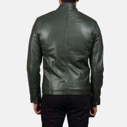 Ionic Green Leather Biker Jacket