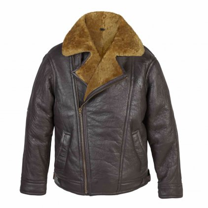 Men's Rust Sheepskin Pilot Jacket