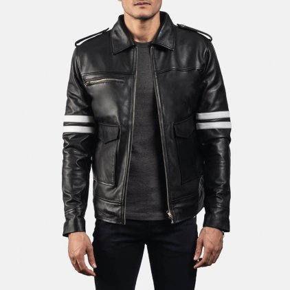 Dragonhide Black Leather Jacket