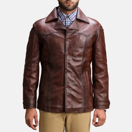 Alley Brown Leather Jacket