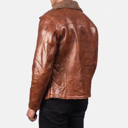 Albert Shearling Brown Leather Jacket