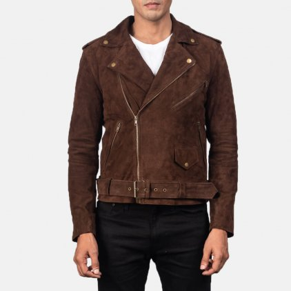 Alley Brown Suede Bomber Jacket