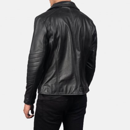 Raiden Black Leather Biker Jacket