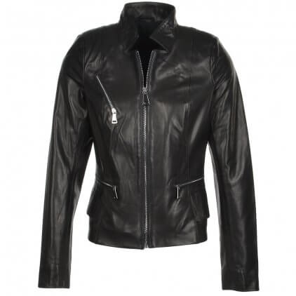 Balle Women's Black Vintage Leather Jacket