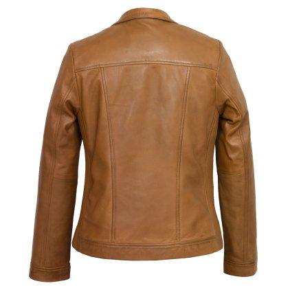 Elsie Brown Leather Biker Jacket