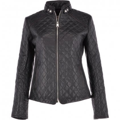 Krey Women's Black Vintage Leather Jacket