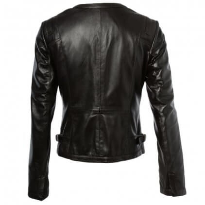 Emdy Women's Brown Vintage Leather Jacket