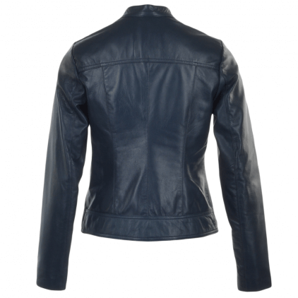 Frey Women's Navy Vintage Leather Jacket