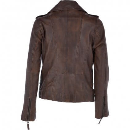 Anny Women's Brown Vintage Leather Jacket