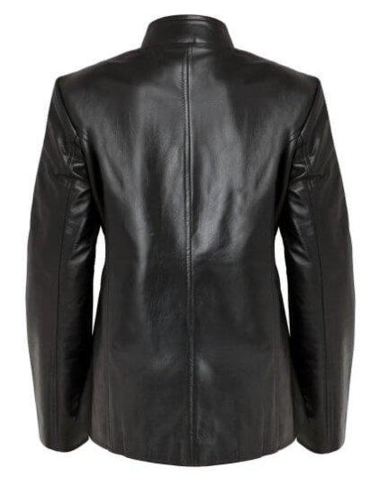 Limy Women's Black Leather Biker Jacket
