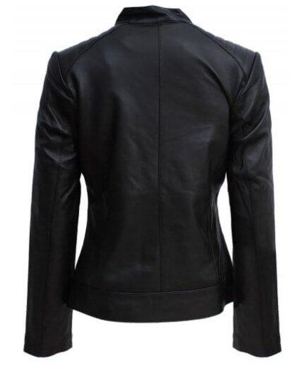 Emmy Women's Black Leather Biker Jacket