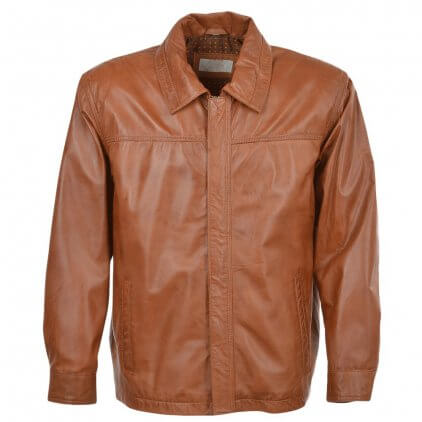 Kany Men's Brown Blouson Leather Jacket