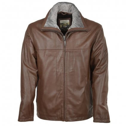Kims Men's Brown Blouson Leather Jacket