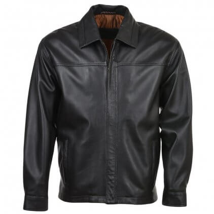 Jarey Men's Black Blouson Leather Jacket
