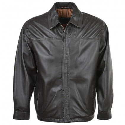 Marey Men's Black Blouson Leather Jacket