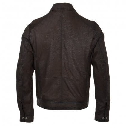Lams Men's Brown Blouson Leather Jacket
