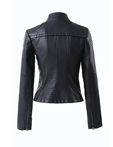 Alley Women's Black Leather Vintage Jacket