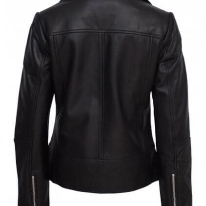 Kendall Women's Black Leather Biker Jacket