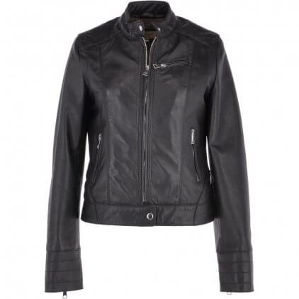 Lamy Women's Black Vintage Leather Jacket
