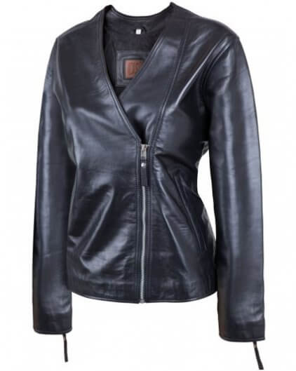 Perfect Women's Black Leather Biker Jacket