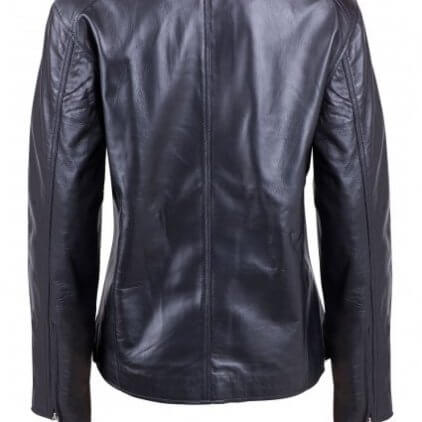 Perfect Women's Black Leather Biker Jacket