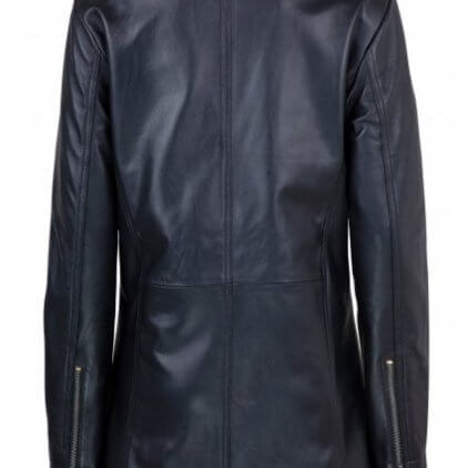 Andry Women's Black Leather Biker Jacket