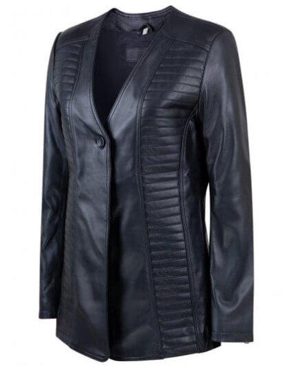 Andry Women's Black Leather Biker Jacket