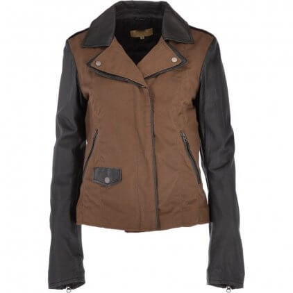 Fany Women's Brown Vintage Leather Jacket