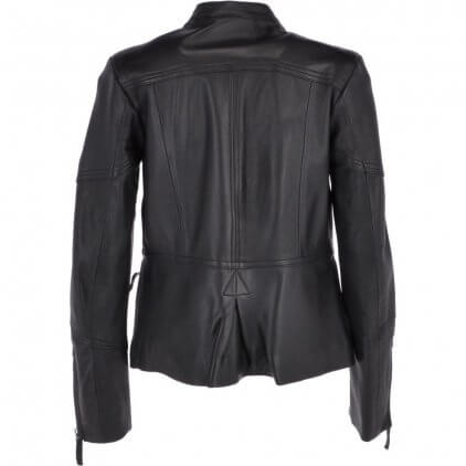 Heny Women's Black Vintage Leather Jacket